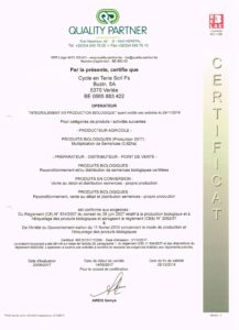 label bio cycle en terre certificat