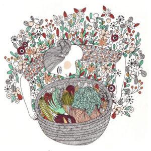 illustration panier légumes alexia bertholet
